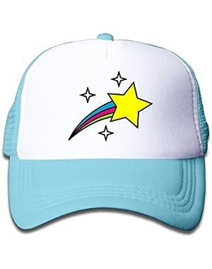 Trucker Cap Boy and Girls Cute Rainbow Stars Mesh Baseball Hat