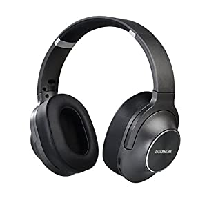 Active Noise Cancelling Headphones Wired, 50h Playing Time INSERMORE AN02 Hi-fi Stereo over Ear Headsets with Inline Mic, Foldable Travel Earphones for iPhone/Android/PC, free Carry Case / Metal-Black