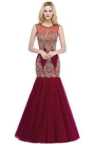 Für 32 Elegant Babyonlinedress Gr Lang 46 Hochzeit Weinrot Tüll Maxi Ballkleid Brautjungfernkleid Abendkleider Meerjungfrau qBEgRB