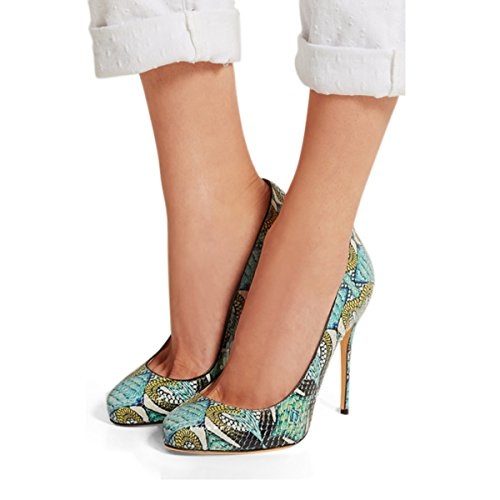 Sandals Hight Platform Heel Green Party Women in Pumps Shoes Toe Peep Slingbacks green BUWcwqwFgS