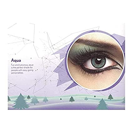 1bf25765354 Buy Natural Look colour contact Lens Aqua (pack of 2pcs + 1 free lens case  Online at Low Prices in India - Amazon.in