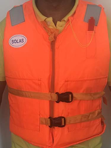 Professional Life Jacket Adult Live Vestwith Whistle Lifejacket Aid Sea...