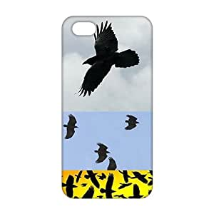 Angl 3D Case Cover Black Eagles Phone Case for iPhone 5s