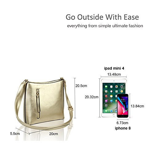 Pearl Pocket 5x5 Bag Front for Squared Women Zip 20x20 5 With cm Vertical Crossbody Slim Shoulder Handbag wxOaaPq