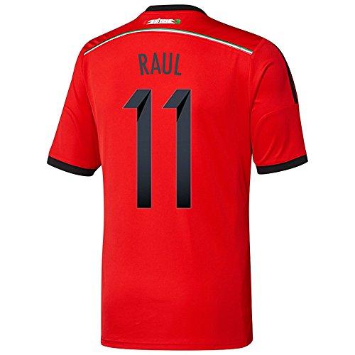 信念ポスト印象派咲くAdidas RAUL #11 Mexico Away Jersey World Cup 2014/サッカーユニフォーム メキシコ アウェイ用 ワールドカップ2014 背番号11 ラウル