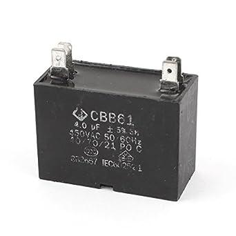 Ventilador Condensador CBB61 4uF 450V 50/60 Hz Terminal 4: Amazon ...