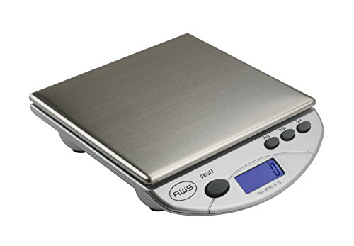 American Weigh Scales Silver AMW13-SL Digital Postal/Kitchen Scale, 13 LB by 0.1 OZ (Scale Point)