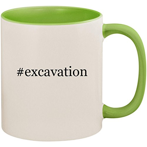 #excavation - 11oz Ceramic Colored Inside and Handle Coffee Mug Cup, Light Green