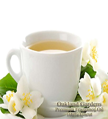 White Tea Perfume Oil - BULK Fragrance Oil - WHITE TEA Fragrance Oil - soft, clean scent is reminiscent of the popular Plumeria aroma - By Oakland Gardens (030 mL - 1.0 fl oz)