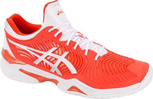 Boast Tennis Apparel - ASICS Court FF Novak Men's Running Shoe, Cherry Tomato/White, 10 M US