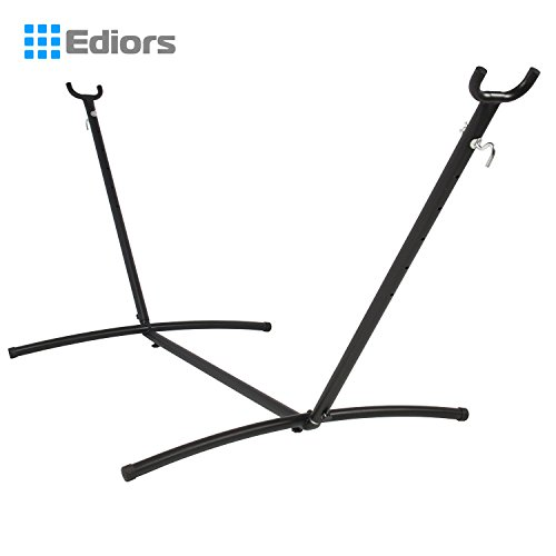 Ediors® Space Saving Steel Hammock Stand 9' Outdoor Patio Portable with Carrying Case by Ediors
