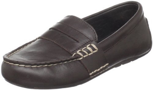 (Polo by Ralph Lauren Telly Casual Loafer (Toddler/Little Kid/Big Kid),Chocolate Burnished Leather,8.5 M US)