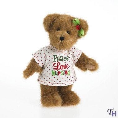 Bear Enesco Teddy - Boyds Bears Cara Peace Love Nursing Stuffed Animal Teddy Bear Plush