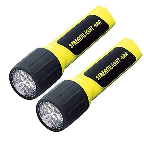Streamlight 68201 4AA ProPolymer LED Flashlight with White LEDs, Yellow - 67 Lumens (2 - Helmet Streamlight Clamp