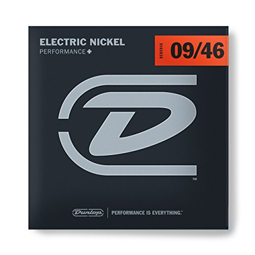 Dunlop DEN0946 Nickel Wound Electric Guitar Strings, Light/Heavy, .009-.046, 6 Strings/Set