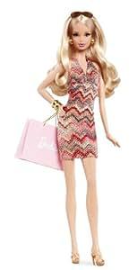 Barbie - Muñeca Fashion City Shopper, rubia (Mattel X8256)