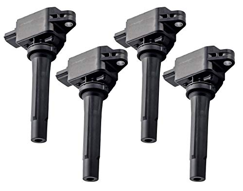 Pack of 4 Ignition Coil for 2013-2018 Mazda CX-3 CX-5 CX-9 3 6 3 Sport 2.0L 2.5L L4 H6T61271 PE2018100