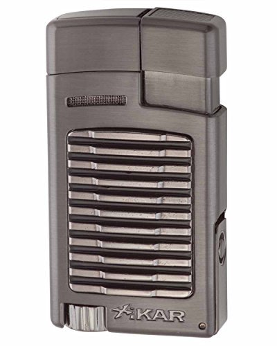 Forte Single Torch Flame Cigar and Cigarette Lighter in an Attractive Gift Box Warranty Gunmetal by Xikar
