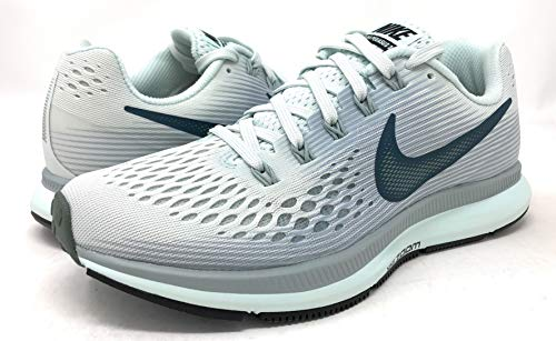 Nike Womens Air Zoom Pegasus 34 Low Top Lace Up Running Sneaker (Barely Grey/Deep Jungle, 5 M US) by Nike (Image #6)