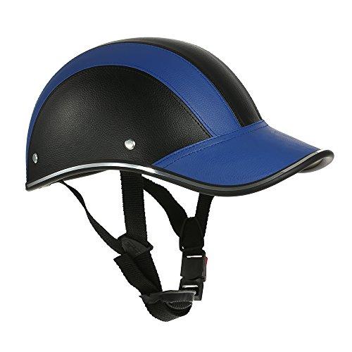 KKmoon Motorcycle Helmet Half Face Baseball Cap Style with Sun Visor Blue