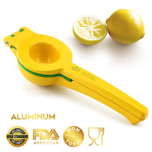 Lemon Aluminum Squeezer - Hand Citrus Lemon Presser. Professional Kitchen Citrus Manual Hand Juicer. Premium Top Quality Heavy Duty 0.5lb Lemon Squeezer  Solid Aluminum + Coated ✔️FDA Approved ✔️100% Food Grade✔️