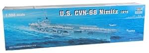 Trumpeter 05605 - Maqueta de Portaaviones USS Nimitz CVN-68 1975 [importado de Alemania]