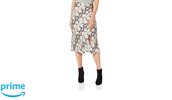 Lioness Women's Bias Midi Skirt with Split, Python, Extra