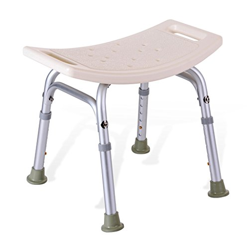 Tabourets de douche et de bain/Shower Seat Chair/Disabled Aid Non-slip Shower Chair/Pregnant women bath stool/White Metal bathtub stool/The maximum sustainable 227Kg/6 height adjustment by Chi Cheng Fang Electronic business