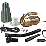 HFXDXR Newest Portable Car Vacuum Cleaner 12V 4 IN 1 High Power Wet & Dry Dual use Super Suction Dust Buster With Inflatable Pump
