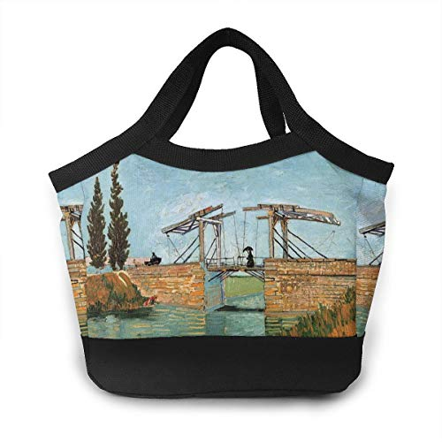- Langlois Bridge At Arles Lunch Bag For Women Insulated Lunch Tote Bag Durable Lunch Bag Lunch Container