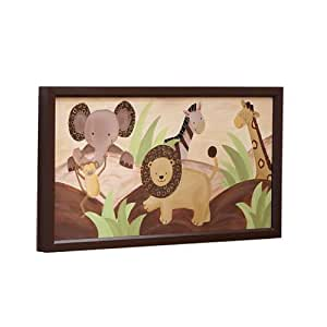 Lambs & Ivy Baby Cocoa Wall Decor, Chocolate/Beige (Discontinued by Manufacturer)