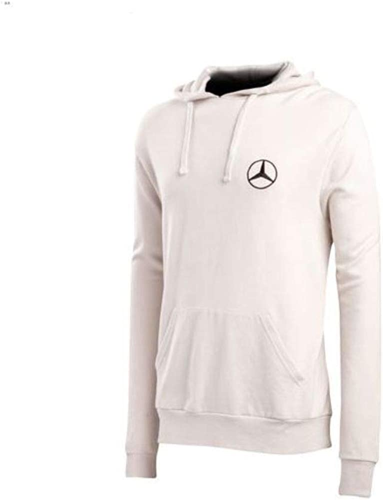 Cotton French Terry Unisex Hoody Jumper White with Kangaroo Pocket