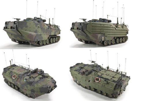 Kit Amphibian Vehicle (AFV35S70 1:35 AFV Club AAVC-7C1 Assault Amphibian Vehicle Command Model 7C1 MODEL KIT)
