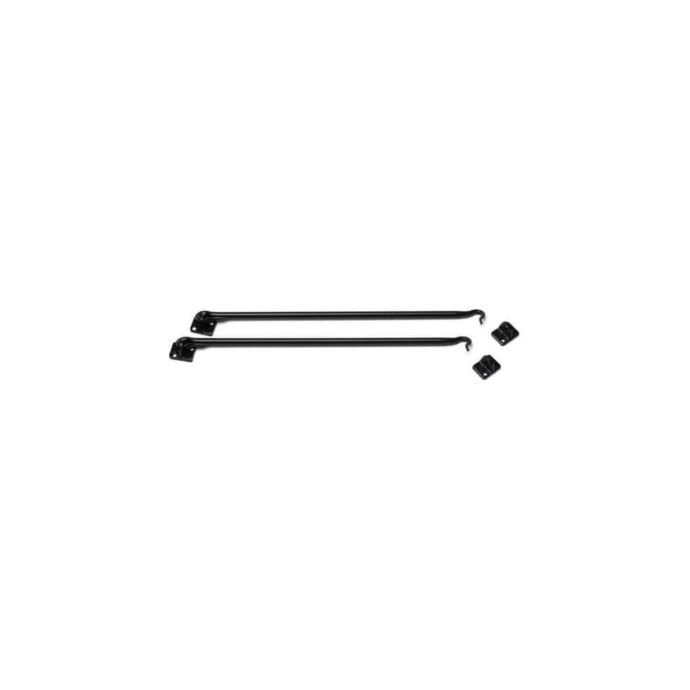 Timberlane Genuine 16'' Hook & Eye Latch, Shutter Hardware, Black Powder Coated Stainless Steel by Timberlane
