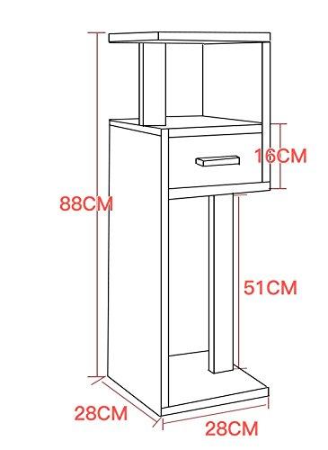 88CM bookshelf/ indoor living room flower rack / multi-functional balcony rack /simple wood floor flower stand / ( Color : H ) by Flower racks - xin