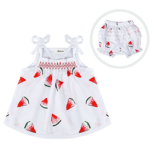 [BOBORA Toddler Baby Girls Pants Outfits Watermelon Pattern Sleeveless Romper + Shorts] (Watermelon Toddler Costume)