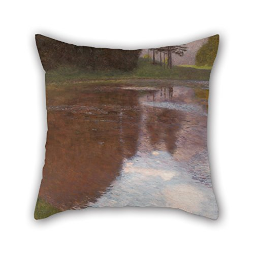 Artistdecor Pillow Cases Of Oil Painting Gustav Klimt - Tranquil Pond (Egelsee Near Golling, Salzburg) 18 X 18 Inches / 45 By 45 Cm,best Fit For Teens Girls,teens,pub,home,coffee House,girls Both S
