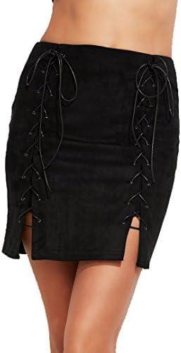 SheIn - Falda - falda tubo - Manga Larga - para mujer negro L ...
