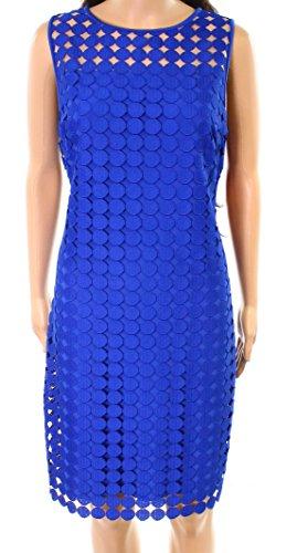 Lauren by Ralph Lauren Womens Circle Knit Shift Dress Blue - Ralph 16 Size Lauren
