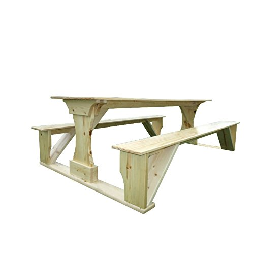 Kunkle Holdings LLC Commercial Grade Indoor Pine Pub Trestle Table 6 (Pine Trestle)