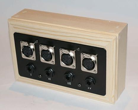 Proleads XLR/Jack caja de pared acabado de madera 8 way: Amazon.es: Instrumentos musicales