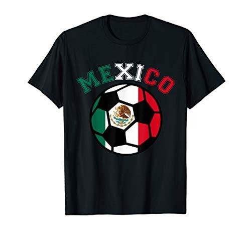 Mexican Soccer Futbol Football Mexico Flag Jersey T-Shirt