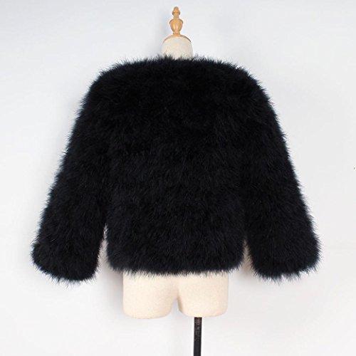 KaloryWee Suave de de de Xmax Mujer para Negro Abrigo Piel Piel Piel Avestruz de Esponjosa Sintética y Abrigo Suave r8BfHqnr