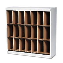 Mayline SRF3837PG Vertipocket vertical sorter, 21 pockets, 37-3/4w x 12-3/4d x 37h, pebble gray
