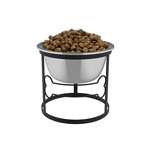Find Discount Stainless Steel Elevated Pet Bowl with Stand for Dogs and Cats-Raised Feeder for Food/...