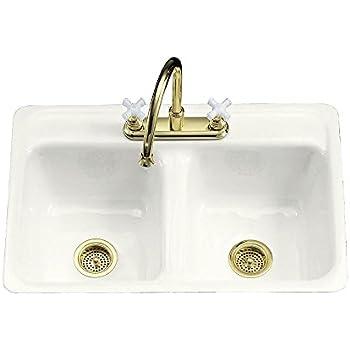 Kohler K 5818 4 96 Hartland Self Rimming Kitchen Sink With