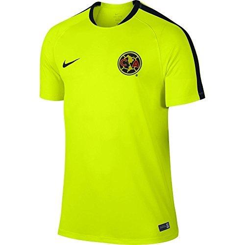 Football Club Jersey (Nike Soccer Replica Jersey: Nike Club America Flash Training Replica Soccer Jersey 15/16 L (Large, yellow))