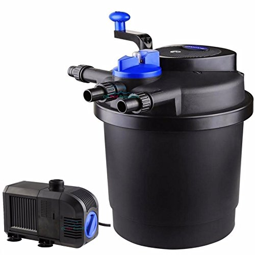 1320gph water pump 1600 gal pressure pond filter w 13w for Used fish pond filters