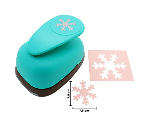 Bira 2 15/16 inch Snowflake Lever Action Craft Punch for Paper Crafting Scrapbooking Cards Arts DIY Project by Bira Craft