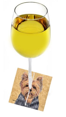 UPC 705332147989, Caroline's Treasures Yorkie Fabric Wine Marker Made or Printed in the USA